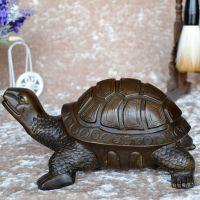 精品促销开光纯铜大号乌龟摆件风水化煞铜龟工艺品家居装饰品摆设