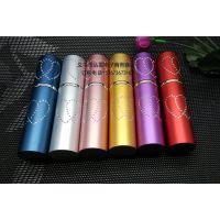 进口料电镀10ML便携式喷雾香水瓶 爱心口红铝制玻璃瓶情侣式