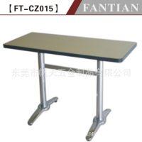 餐厅家具工厂批发罗马脚长方形桌子 304不锈钢面 结构牢固美观