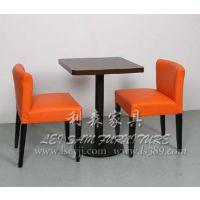 塘坑四人位茶餐厅桌子 咖啡厅人造石大理石餐桌椅 可定做