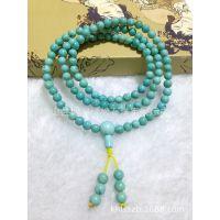 《供应》天然绿松石手链 精美圆珠 厂家直销