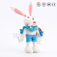 兔子毛公仔 蓝色跳舞兔创意毛绒玩具 ICTI/沃尔玛/迪士尼认证工厂