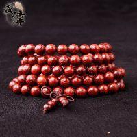 盛伟 赞比亚血檀木质佛珠手串 精选1.5cm*15顺纹 念珠