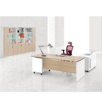 时尚2.2m1.8米1.6米班台 板式家具 经理主管办公桌 黄白搭配现代