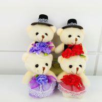 毛绒玩具情侣婚纱对熊婚庆礼品节日礼物卡通花束材料公仔厂家批发