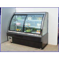 西点冷柜 西点柜定做价格 1.2米前开门弧形西点柜价格