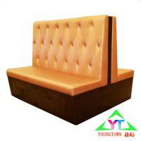 扬韬沙发卡座定制,皮质卡座图片现代风格双人沙发价格实惠
