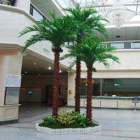 东莞森林厂家直销仿真植物 室外摆饰大树 合成树脂棕榈树 人造景观老人葵树 出售扇葵树叶