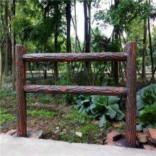 四川驰升河边水泥仿木栏杆 环保水泥围墙栏杆设计与施工