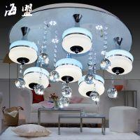 供应2015LED新款水晶吸顶灯客厅灯卧室灯具