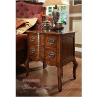 美式实木床头柜 两斗储物收纳柜 外贸原单