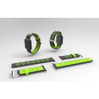 俊奇Jun-Q58 apple watch苹果表带硅胶双色青春时尚智能手表表带厂家直销