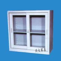 厂家直销 单层玻璃移门文件柜 铁皮资料档案柜 简约办公文件柜