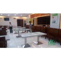 广州法院食堂餐桌椅案例 大型企业食堂餐桌椅定制 工程桌椅运达来厂家