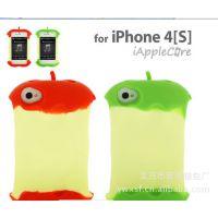 iphone4手机壳 想咬一口 4S手机外壳 硅胶套 苹果4代保护壳