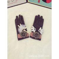韩国东大门兔子花朵手套
