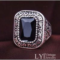 仿真黄金宝石戒指 镀金银指环 银饰 ebay 速卖通 外销货源