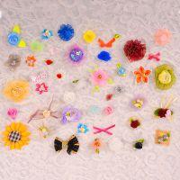 现货直销服装辅料花珍珠雪纺花服装饰品小花装饰配件免费拿样