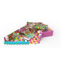 供应哈皮 淘气堡儿童乐园糖果系列 PVC软包木质海绵 EPE 儿童闯关系列 电动玩具