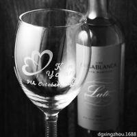 水晶工艺品激光内雕加工定制 创意酒杯水晶内雕可印LOGO厂家价格