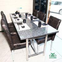 大理石餐厅桌椅/寿司店桌椅家具 多人位日式西餐厅桌椅工程厂家