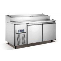 供应雅绅宝保鲜比萨柜 比萨操作台冰柜 比萨店厨房制冷设备 披萨柜