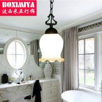 客厅餐厅吊灯 波西米亚灯具欧式单个卧室过道玄关花饰灯饰