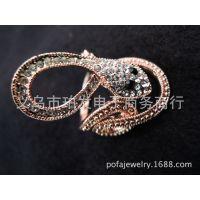 【欧美外贸复古戒指/外贸戒指】镶钻蛇形戒指 可来样定做