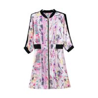 G18 厂家直供 2014欧美新款夏季女装品牌同款立领印花连衣裙批发