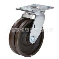 厂家直销V型槽铸铁活动脚轮 导轨脚轮 生铁脚轮