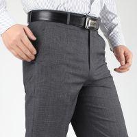 2014厂家直销男装薄款男式西裤  男士商务西裤中老年长裤子批发