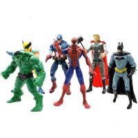 6款复仇者联盟2绿巨人玩具蝙蝠侠 蜘蛛侠 钢铁侠美国队长OPP套装