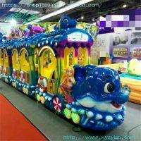供应无轨旅游观光火车 电动电瓶 大型游乐场 游乐设备产品