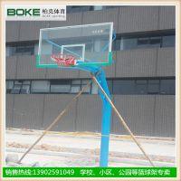 珠海操场篮球架价格 固定透明板篮球架生产商 篮球场地施工