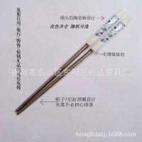 青花韵不锈钢筷子 陶瓷礼品餐具 筷子