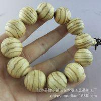 厂家批发 新料帝王檀香木 佛珠手串 佛珠手链念珠 长期供应 2cm