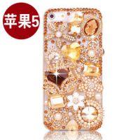 iphone5S手机壳苹果6手机保护套水钻 镶钻香水包钻壳DIY贴钻
