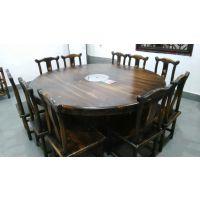 广西南宁雅典娜YDN-1618东北松木炭烧木火锅餐桌椅