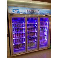 厂家直销 便利店两门饮料冷藏展示柜 立式冷藏柜