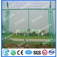 供应定安工地隔离网/保亭码头带刺丝围栏网/洋浦核电站防护网实例