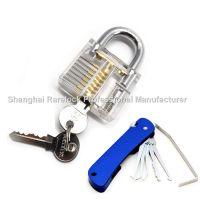 Rarelock 透明挂锁锁匠工具锁匠练功锁练习锁透明门锁套装