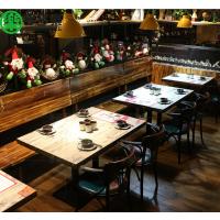 简约现代火锅餐桌自助餐厅专用桌家具厂家直销 便宜石英石火锅餐桌
