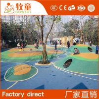 供应高标准幼儿园彩色安全地垫EPDM现浇地垫定制批发