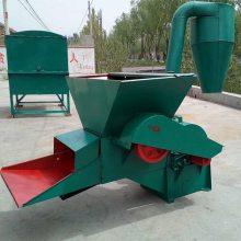 低价直销秸秆牧草粉碎机自动进料打糠机家用稻草打面子机