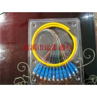 SC12色束状尾纤12芯SC接头方口尾纤连接图