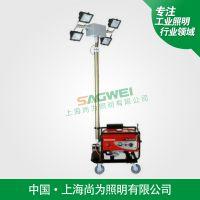 上海尚为照明SW2910A全方位自动升降远程遥控自动旋转照明工作灯车带360度云台