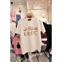 工厂便宜清货女式T恤纯棉短袖女士上衣圆领T恤库存服装便宜女装上衣