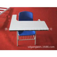 源头厂家直销大众款学生椅办公椅培训椅带写字板会议椅简易金属桌椅