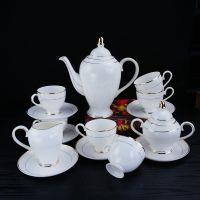 唐山唯奥陶瓷厂批发英式骨瓷咖啡具套装 批发下午红茶杯碟 定制陶瓷礼品咖啡杯加logo