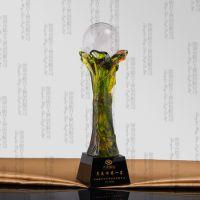 汕头琉璃奖杯定做,销售冠军奖杯,营销中心定做冠军奖杯